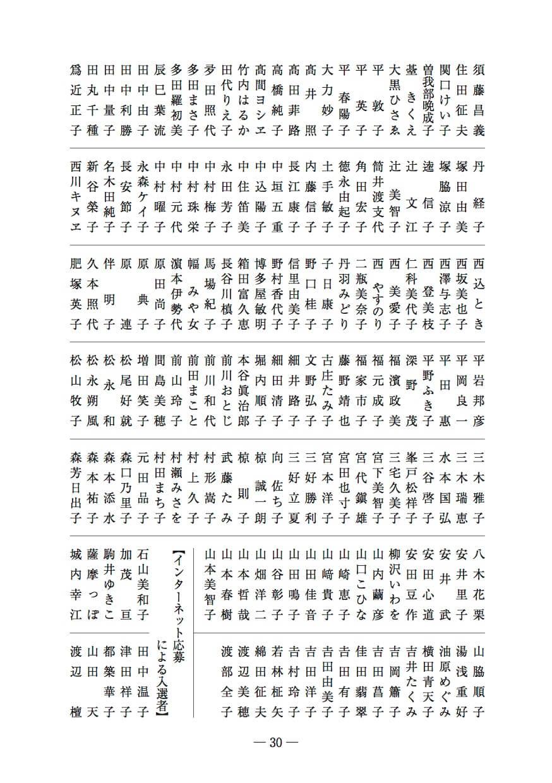 2022年俳句カレンダー募集句入選者